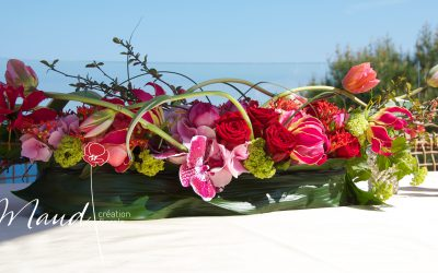 Yacht flowers specially sourced