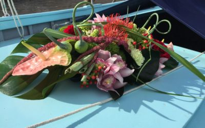 Yacht-flowers-florist-arrangement aft deck