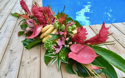 Yacht-flowers-florist-tropical arrangement